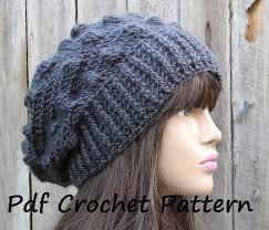 Crochet Patterns Hats New CROCHET PATTERN Crochet Hat Slouchy Hat Crochet Pattern PDF