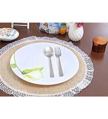 jute beige circular table mat set of 6 jute placemats dining bar dining bar pepperfry