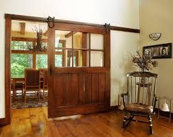 barn door decorating ideas with glass panel insert