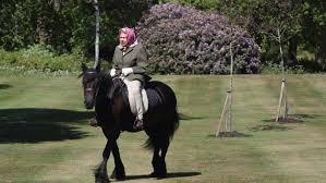<b>Queen</b> Elizabeth photographed <b>riding</b> a <b>horse</b> at Windsor Castle ...