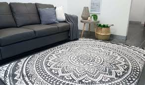 grey white rug industry mandala grey and natural white the rug lady for gray rugs designs