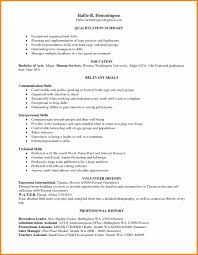 qualifications summary resumes summary of qualifications resume example luxury assistant restaurant