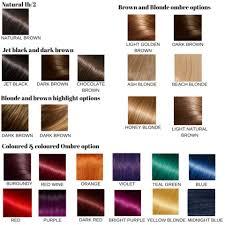 Bright Hair Color Chart Colour Chart Nu Hair