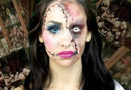 horror doll y makeup