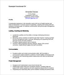 Functional Resume Sample Pdf Magnolian Pc