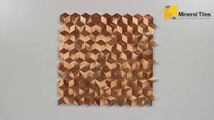 aluminum mosaic tile copper cubes 200ker1950