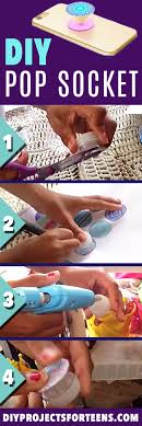 diy pop socket tutorial and cool crafts and diy projects for teens easy