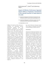 Pdf) Impact Of Effective Performance Appraisal System (Pas) On ...
