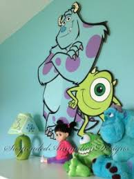 Monsters Inc Mike And Sully Painted Wall Art