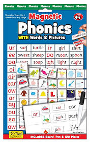 Phonics Chart Amazon Com Fiesta Crafts Phonics Magnetic Activity Chart