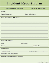 Image Result For School Incident Report Template Word