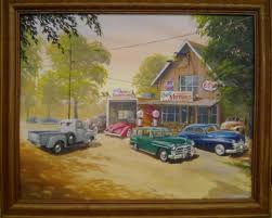 oil painting car and garage ian guy motoring artist oil paintings of your car