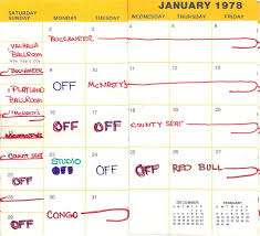 Travel Schedule Silver Laughter Travel Schedule For 1978 January We Were Busy