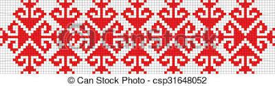 romanian traditional ethnic costume motif genuine pattern
