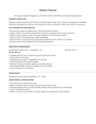 Serving Resume Objective Cover Letter Samples Cover Letter Samples
