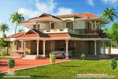 Small Picture 4 bedroom Traditional house plans images Designs Kerala Homes