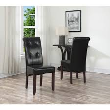 simply home cosmopolitan midnight black faux leather pars