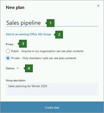Office planner Sharepoint Scherm Afbeelding Van Het Dialoog Venster Planner New Plan Met Bijschriften Voor Naam Die Is Cmswire Een Plan Maken In Microsoft Planner Officeondersteuning