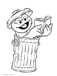Sesame Street Characters Coloring Pages To Print Free Printable
