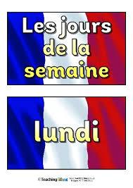 French Days Of The Week French Days Of The Week Teaching Ideas
