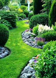 Rock Landscape Edging Borders River Rock Landscape Edging Free