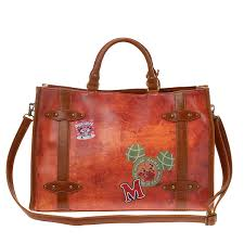 mickey mouse faux leather vintage style tote bag disney japan limited
