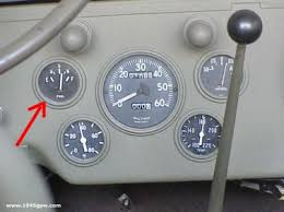 g503 wwii jeep willys mb or ford gpw military vehicle fuel gauge now install the fuel gauge and hook up the connections when the ignition is off the fuel reading should be sitting on empty if you turn on the ignition