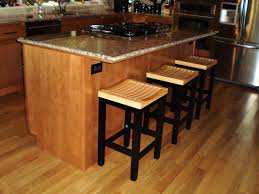 Retro Kitchen Bar Stools Kitchen Room Solid Wood Retro Bar Stools In Olive For Modern