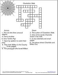 crossword charlotte s web crossword puzzle based on e b white s newbery award winning charlotte s web