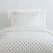 white and gray polka dot duvet cover