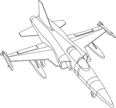 Tô màu máy bay chiến đấu 2 - Trang Tô Màu Cho Bé
