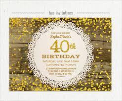 40th Birthday Invitations 26 40th Birthday Invitation Templates Psd Ai Free
