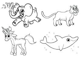 Coloring Pages Wild Animals Zoo Coloring Pages To Print Animals