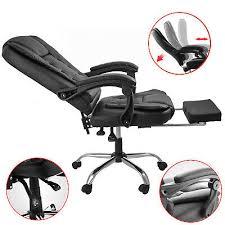 Executive <b>Reclining Office Chair</b> High Back <b>Recliner</b> Swivel Footrest ...
