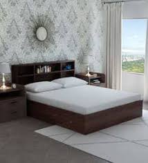 queen size bed price.  Size Tsukiko Queen Size Bed With Side Drawers U0026 Headboard Storage In Wenge  Finish  Intended Price E