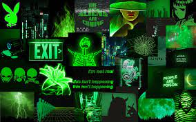 Neon Green Laptop Background ...