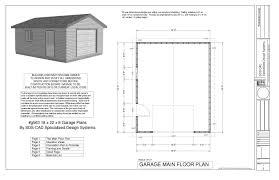 garage door plansSample Garage Plan Plans Pdf Dwg  Architecture Plans  38803