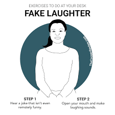 fake laughter exercises to do at your desk