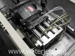 picture of a direct drive pump used in waterjet cutting