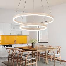 brushed aluminum 1 tier 2 tier 3 tier halo led chandelier adjule height diy