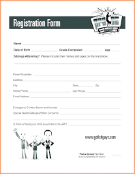 Daycare Form Custom Free Ent Registration Form Template Printable Job Application