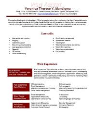 Resume Template Virtual Assistant Resume Example Free Career