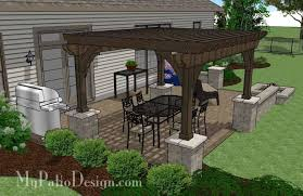 patio designs with pergola. Delighful Pergola Large Rectangular Paver Patio Design With Fire Pit And Pergola 4 To Designs With A