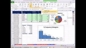 Excel 2010 Statistics 16 Relative Percent Frequency Distributions Pie Chart Histogram