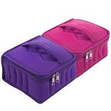 Addy <b>13</b>-<b>slot</b> Portable Solid Color Square <b>Essential Oil</b> Bottles Bag ...