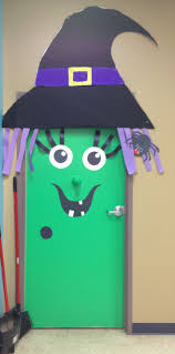 Halloween Door Ideas Witch Door Decoration I Created Things I Made Pinterest