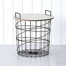 wire side table save white round wire side table