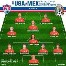 Soccer Lineups Lineup Soccer Yanks