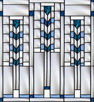 Decorative Glass Window Designs Frank Lloyd Wright Inspired Stained Glass Pompei Stained Fused Glass 2