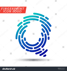 Vector logo design element, abstract information and identification  fingerprint letter Q color icon